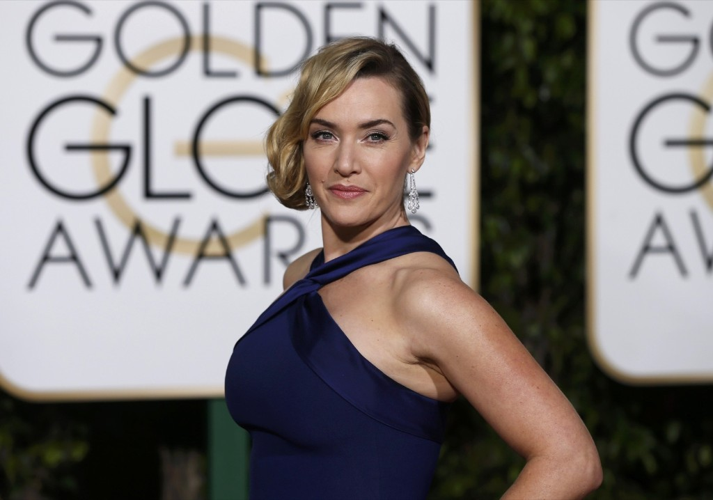Kate Winslett on the red carpet at the 73rd Golden Globe Awards. REUTERS/Mario Anzuoni