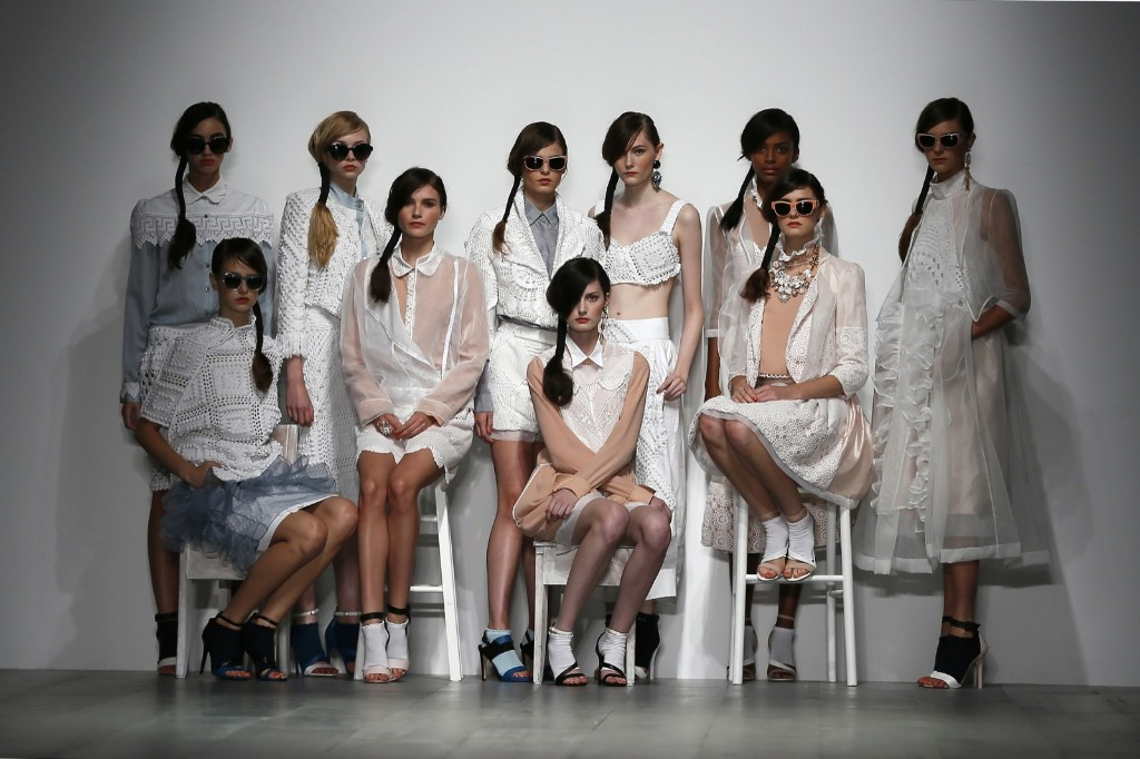 Models present creations from the Bora Aksu Spring/Summer collection. REUTERS/Stefan Wermuth
