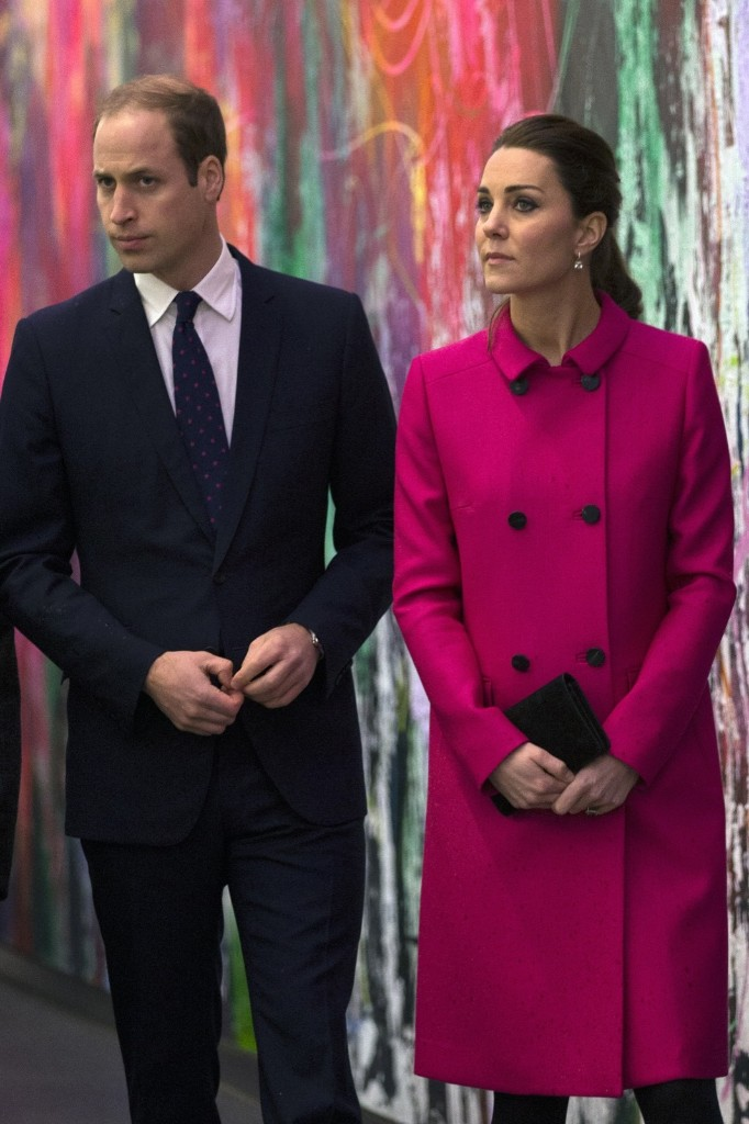 Prince William, Duke of Cambridge and Catherine, Duchess of Cambridge tour the lobby of the One World Trade Center in New York, Tuesday. Carl Court-WPA Pool/Getty Images