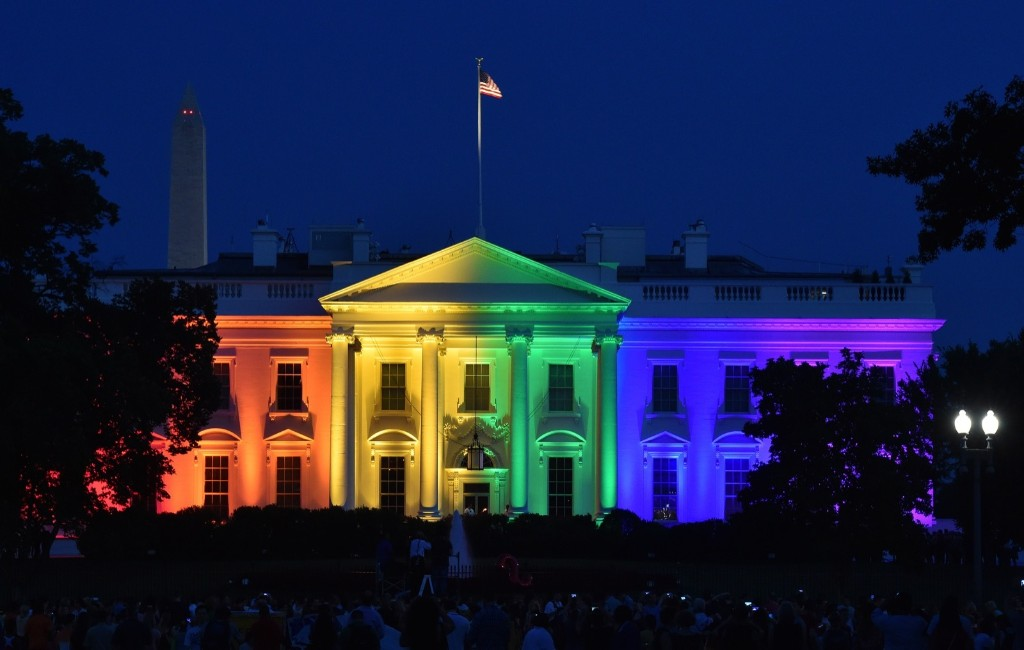 The White House is illuminated in rainbow colors after the Supreme Court ruled that gay marriage is a nationwide right. MLADEN ANTONOV/AFP/Getty Images