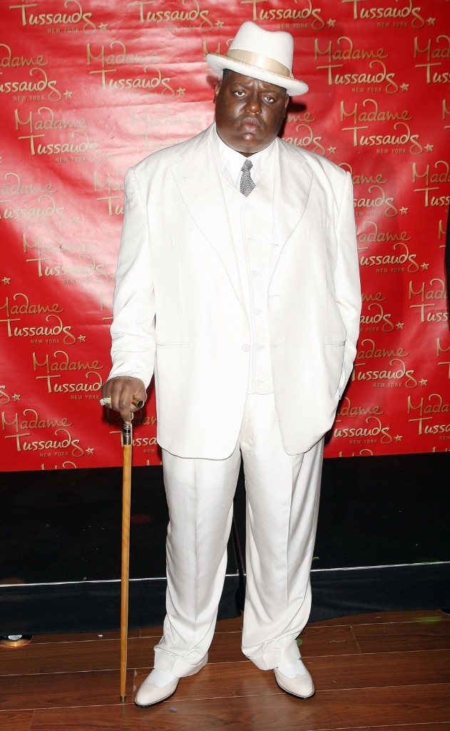 A wax figure of Christopher 'Biggie Smalls' Wallace at Madame Tussauds in Times Square, Oct. 25, 2007. Scott Gries/Getty Images