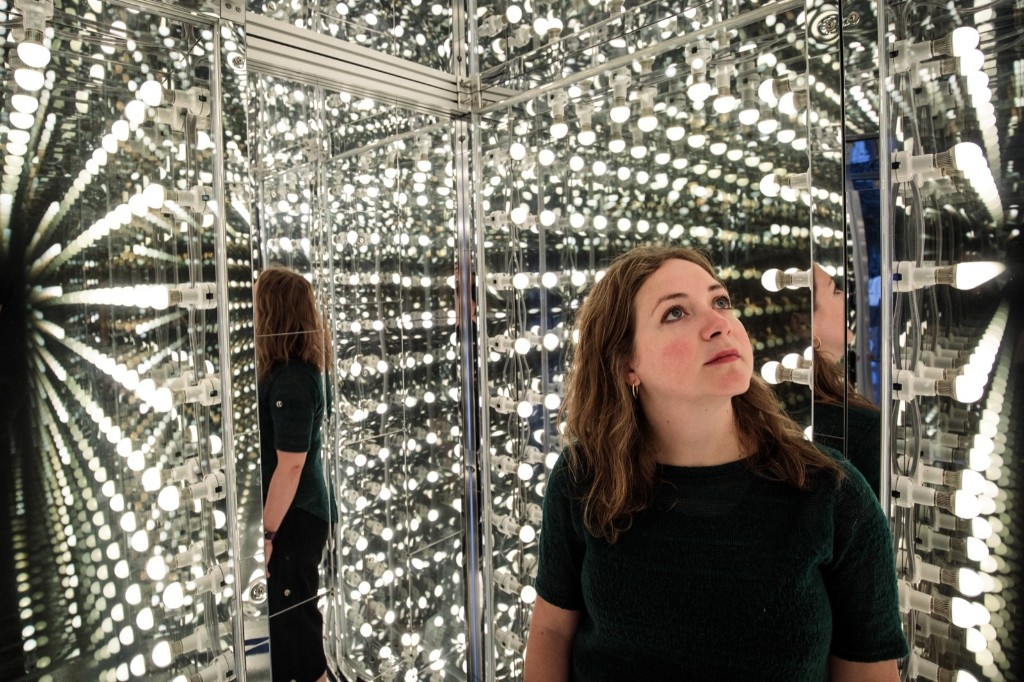 The installation 'Via Negativa II' by Lee Bul at a new exhibition called 'Crashing' at The Hayward Gallery in London. Jack Taylor/Getty Images
