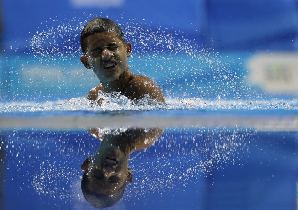 Swimmer during a training session at the 2014 Nanjing Youth Olympic Games. REUTERS/Aly Song