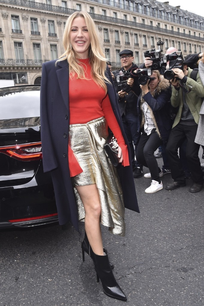 Ellie Goulding arriving at the Stella McCartney show. Jacopo Raule/GC Images