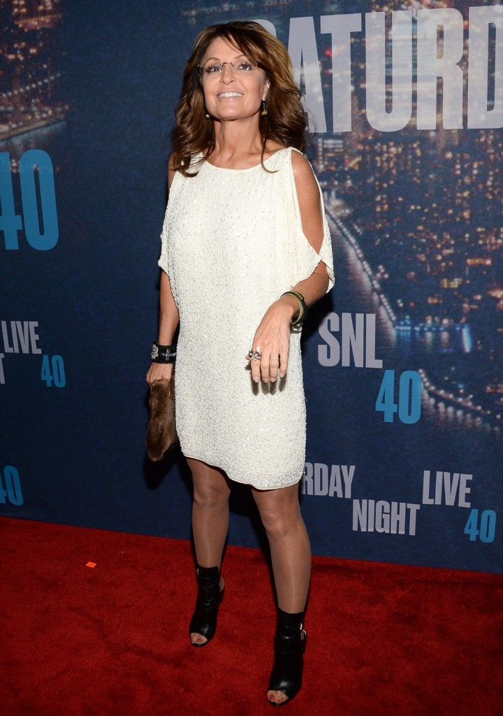 Sarah Palin arrives at the Saturday Night Live 40th Anniversary Special, Sunday, in New York. Evan Agostini/Invision/AP