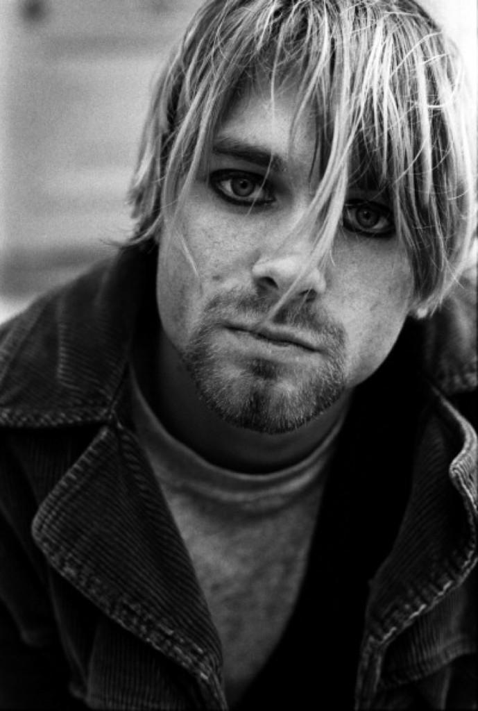 Kurt Cobain in Shepherd's Bush, London, Oct. 1990. Martyn Goodacre/Getty Images