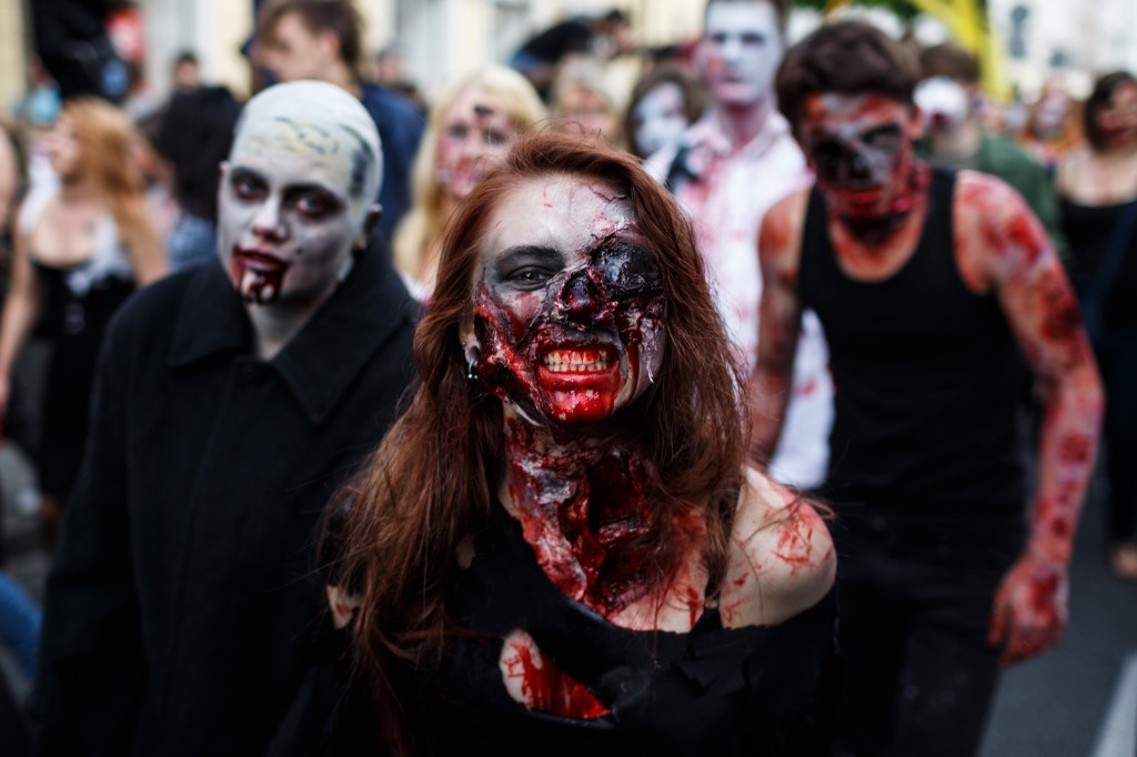 The Zombie Walk in Warsaw. Mateusz Grochocki/Getty Images Poland/Getty Images