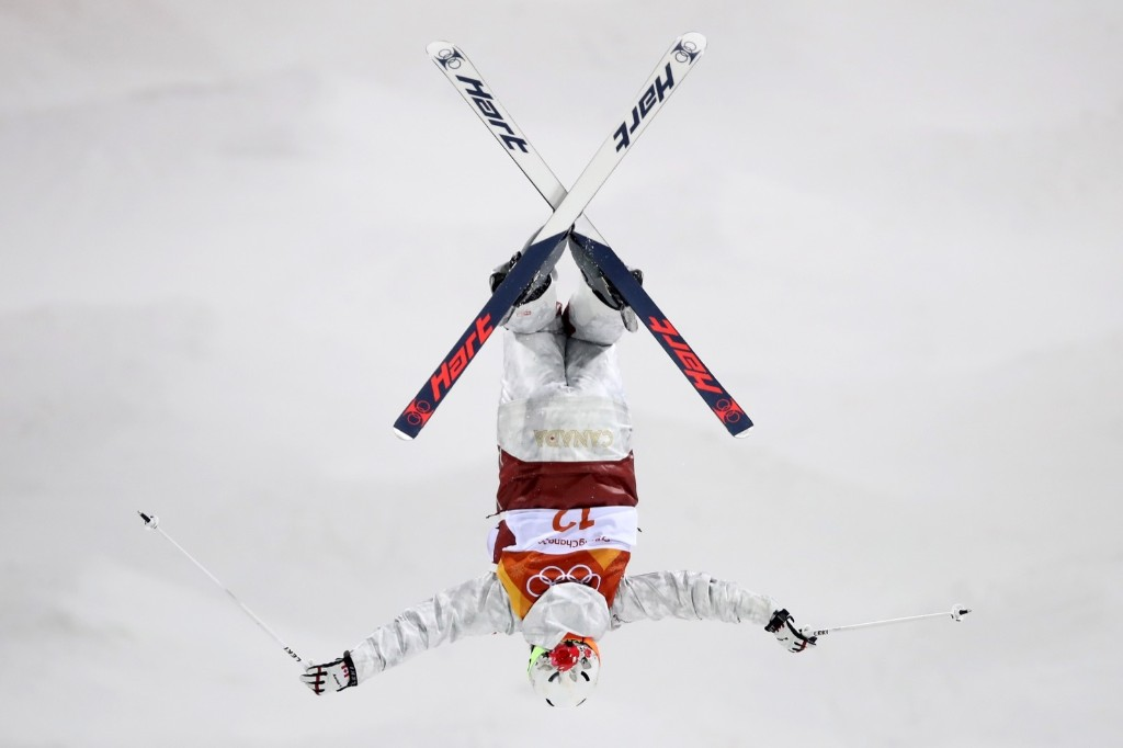 Chloe Dufour-Lapointe of Canada during the women's moguls final. Cameron Spencer/Getty Images
