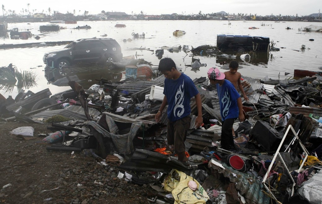 One of the most powerful storms ever recorded killed at least 10,000 people in the central Philippines province of Leyte, a senior police official said on Sunday, with coastal towns and the regional capital devastated by huge waves. REUTERS/Erik De Castro