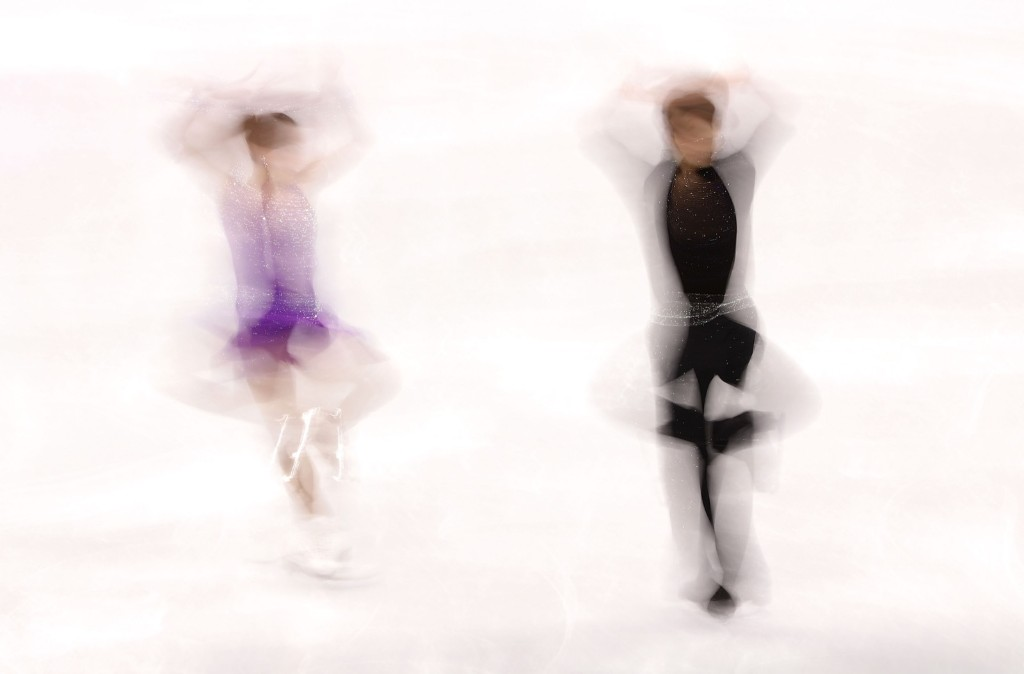 Ronald Zilberberg and Adel Tankova of Israel compete during the ice dance portion of the figure skating team event. Robert Cianflone/Getty Images