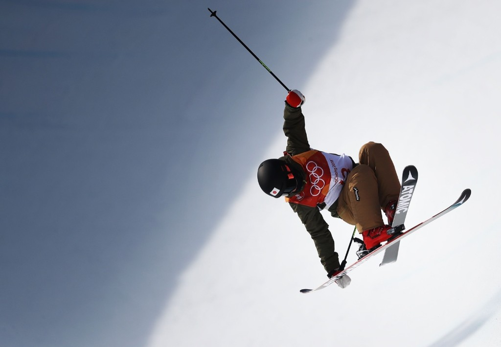 Ayana Onozuka of Japan during women's ski halfpipe final. Ryan Pierse/Getty Images