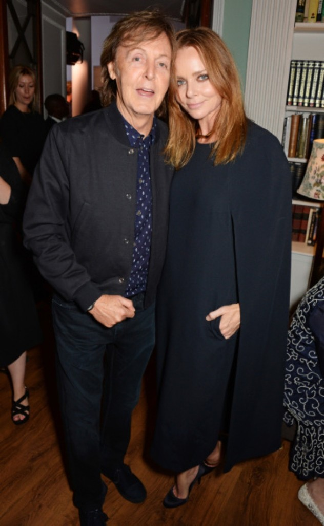 Sir Paul and Stella McCartney. David M. Benett/Getty Images for Eco-Age/Green Carpet Collection