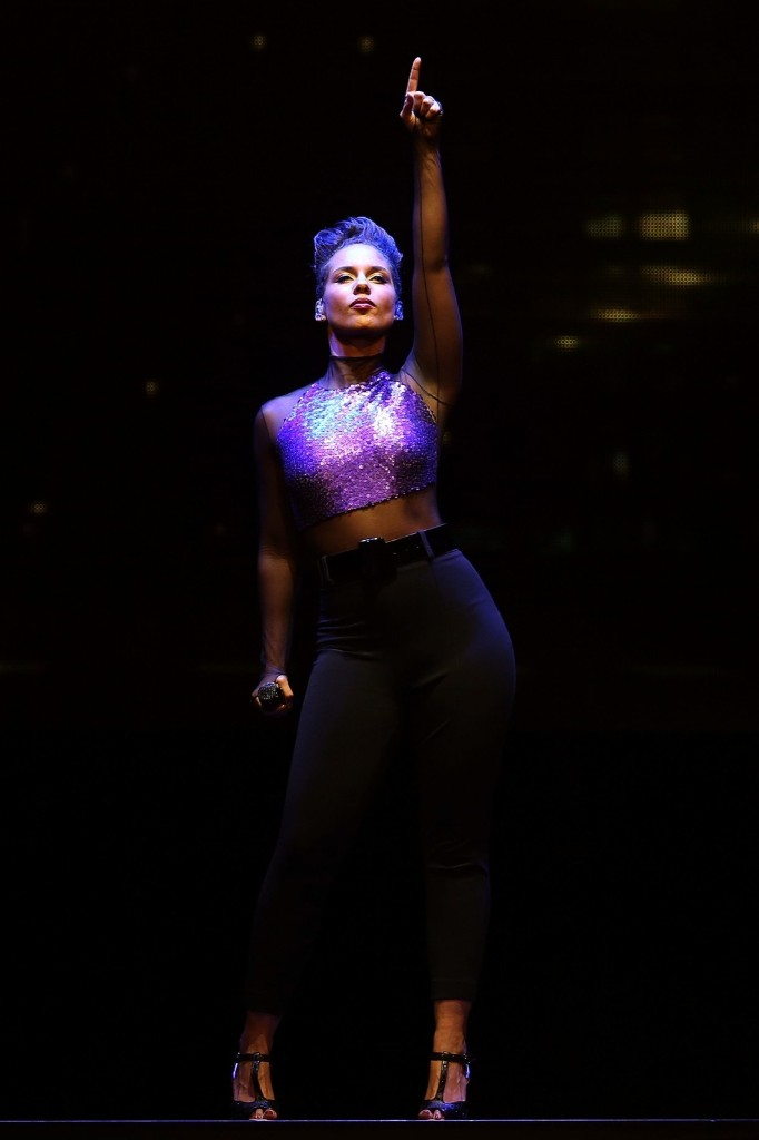 Alicia Keys performs at the Rod Laver Arena on Sunday in Melbourne. Graham Denholm/Getty Images