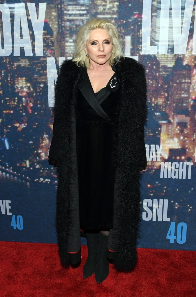 Deborah Harry attends the SNL 40th Anniversary Special, Sunday, in New York. Larry Busacca/Getty Images