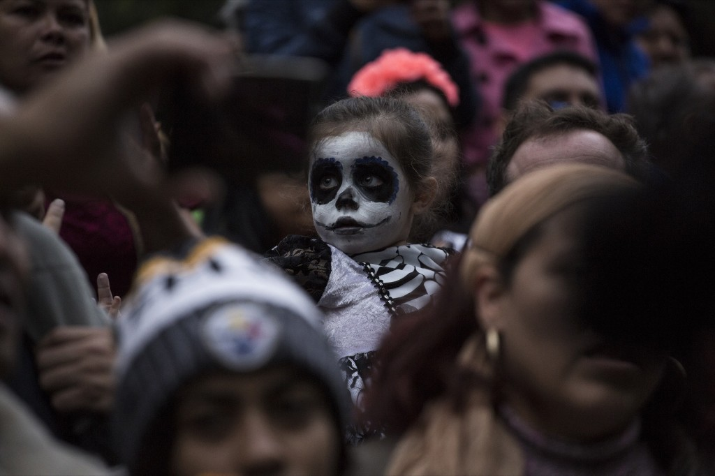 Part of the Catrinas parade in Mexico City. Cristopher Rogel Blanquet/Getty Images
