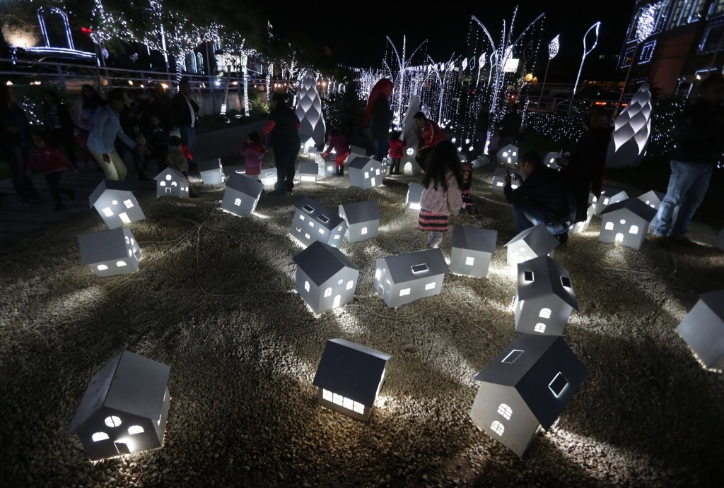 Christmas decorations in the Lebanese city of Byblos. JOSEPH EID/AFP/Getty Images