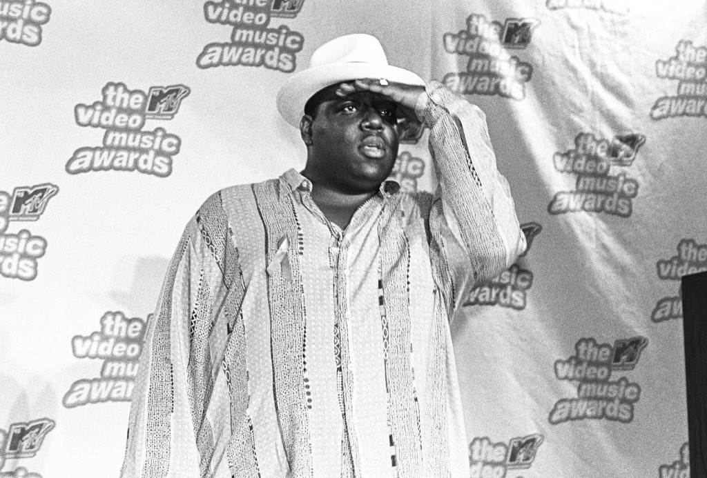 Christopher Wallace, aka Biggie Smalls, at the 12th Annual MTV Awards on September 7, 1995 in New York. Catherine McGann/Getty Images