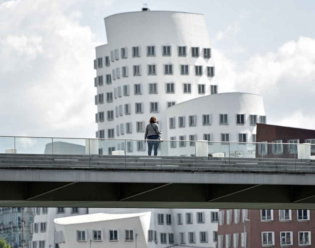 "The ""Leaning Towers"" by Frank Gehry in Duesseldorf, Germany, May 21, 2015. AP Photo/Martin Meissner"