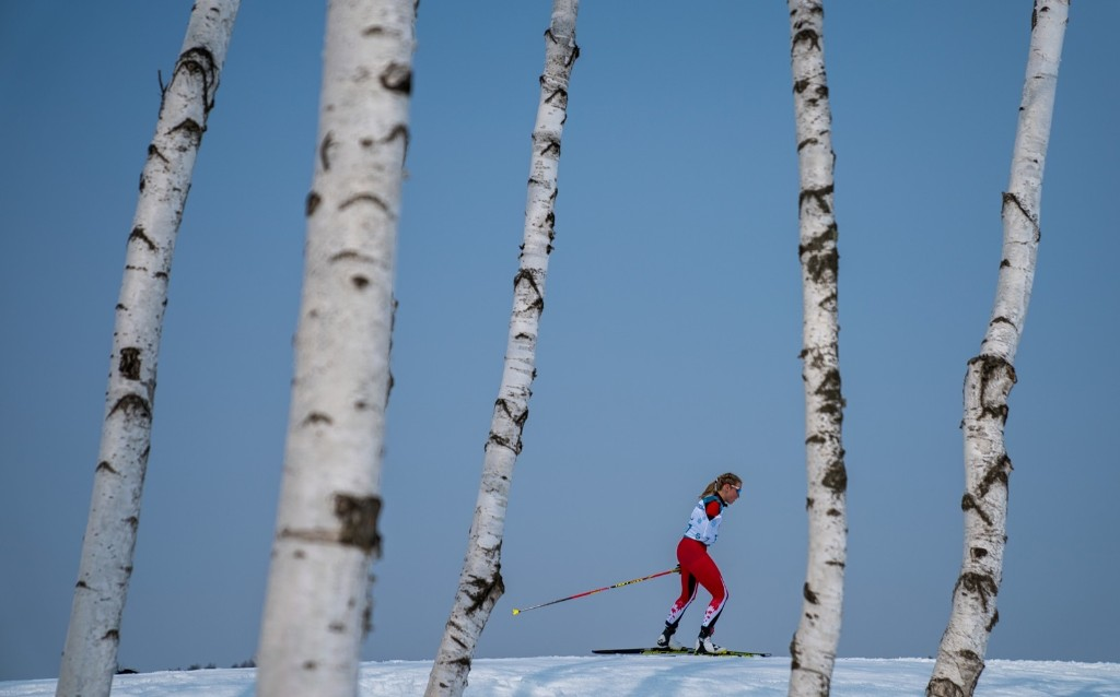 Emily Young of Canada in the Standing Women's 15km Free Cross-Country Skiing. Bob Martin for OIS/IOC