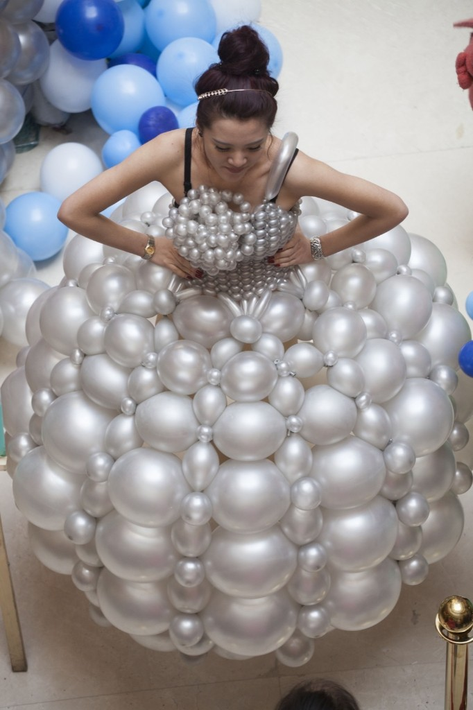 Participant in a balloon exhibition in Jilin, China. ChinaFotoPress/Getty Images