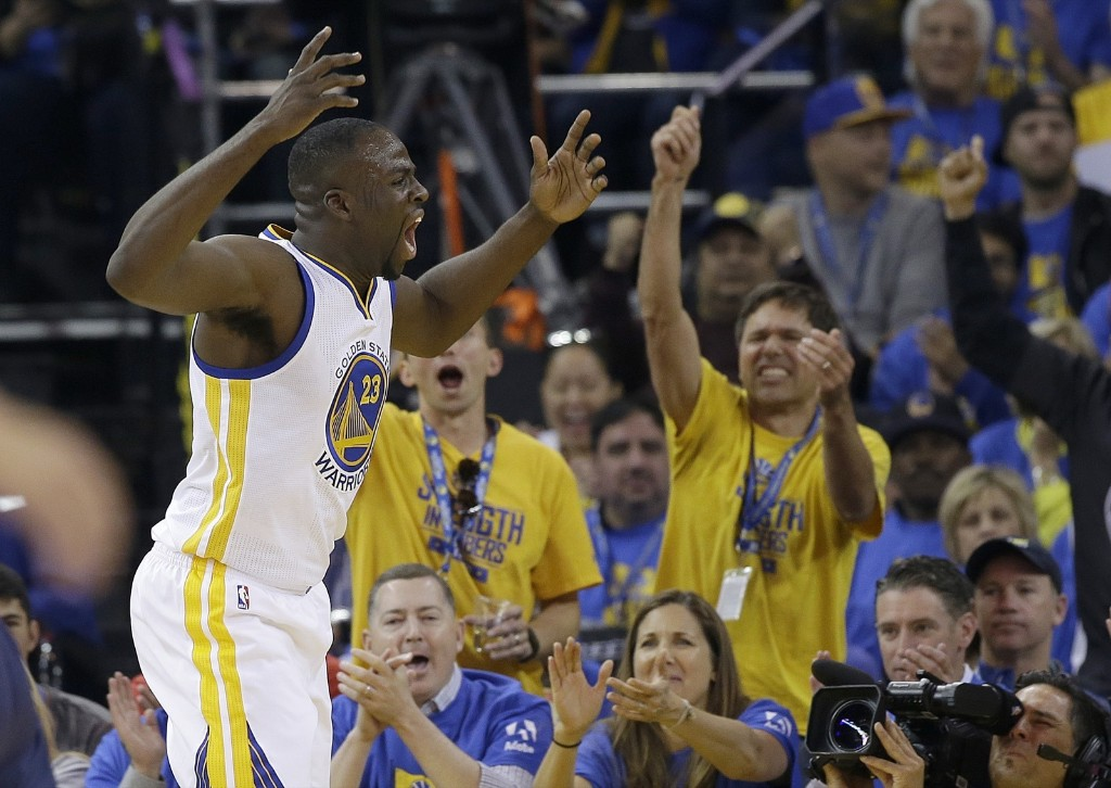 Golden State Warriors forward Draymond Green during the team's record 73rd victory, Wednesday night against the Memphis Grizzlies in Oakland. AP Photo/Marcio Jose Sanchez