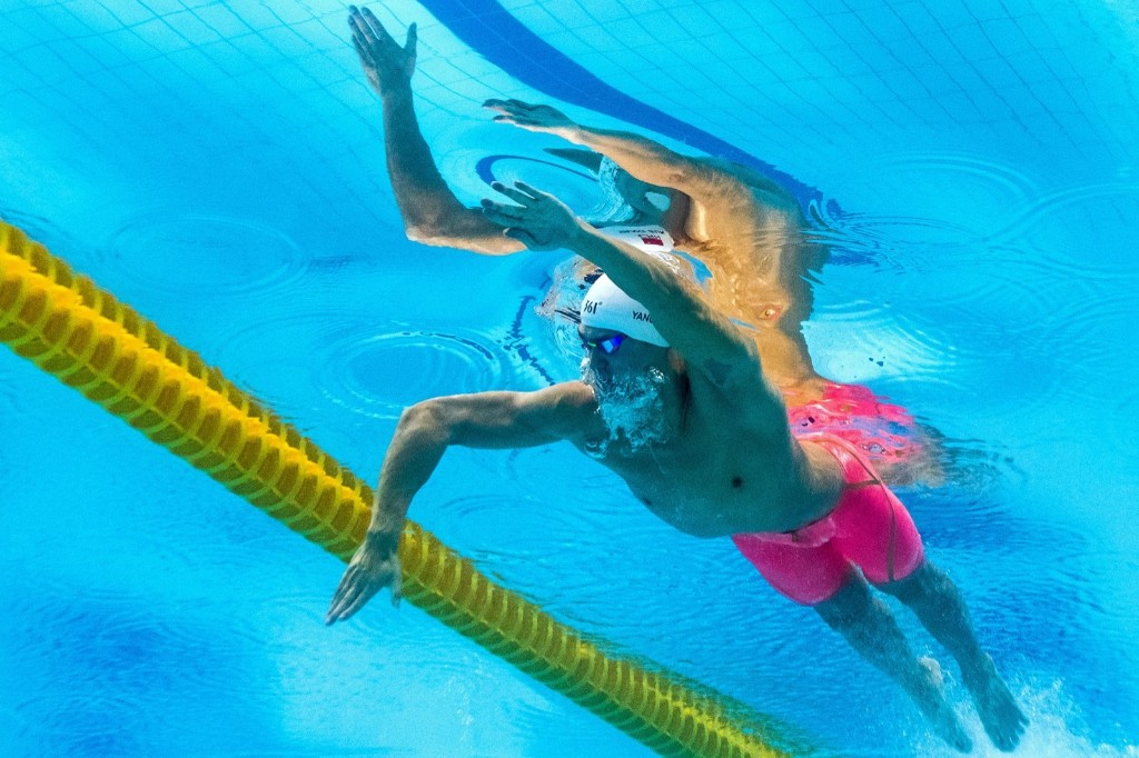 China's Sun Yang in the men's 400m freestyle. FRANCOIS-XAVIER MARIT/AFP/Getty Images
