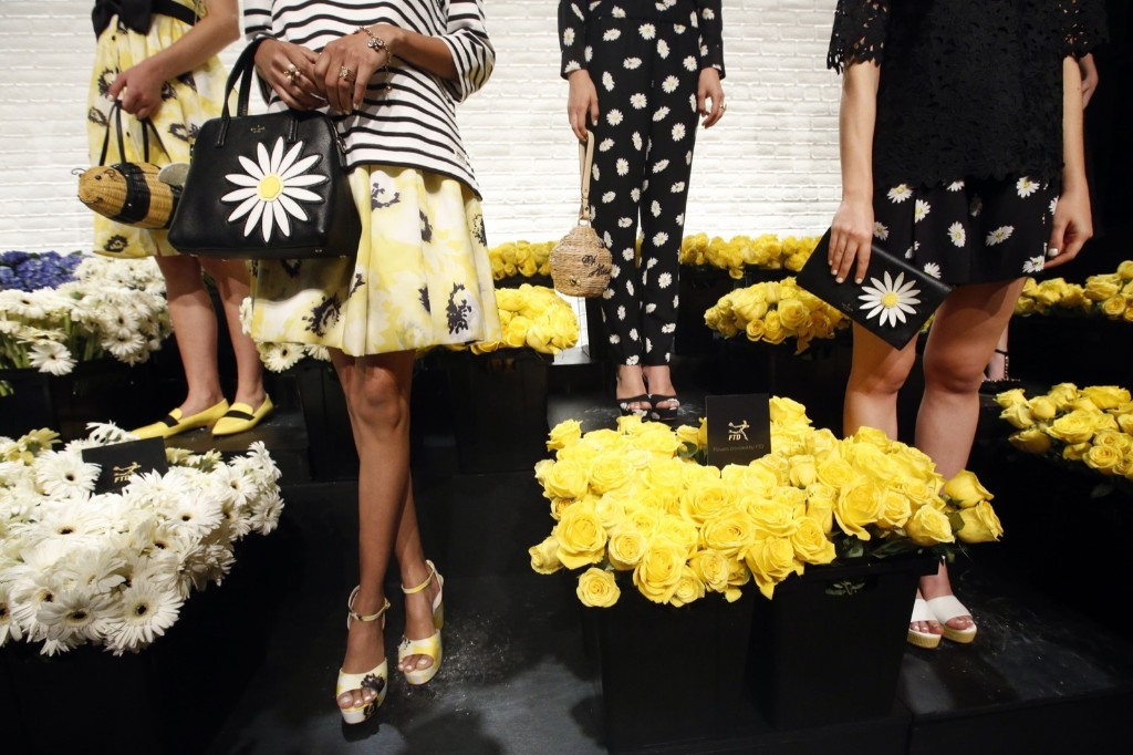 More than 30,000 fresh flowers from FTD help bring the Kate Spade New York Spring 2016 presentation to life. Jason DeCrow/Invision for FTD/AP Images
