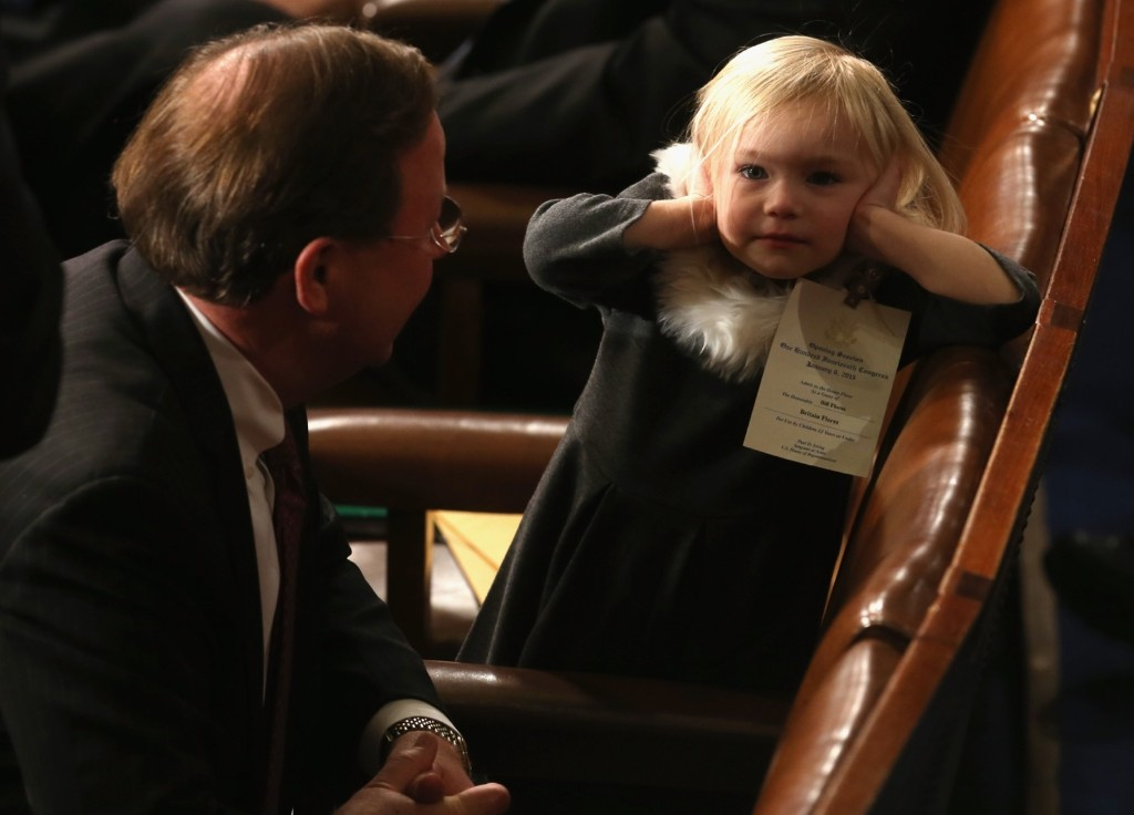Rep. Bill Flores with daughter Brittney before the start of the first session of the 114th Congress. Mark Wilson/Getty Images