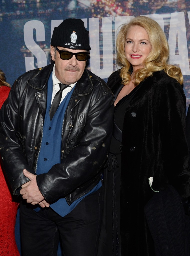 Dan Aykroyd Donna Dixon arrive at the Saturday Night Live 40th Anniversary Special, Sunday, in New York. Evan Agostini/Invision/AP
