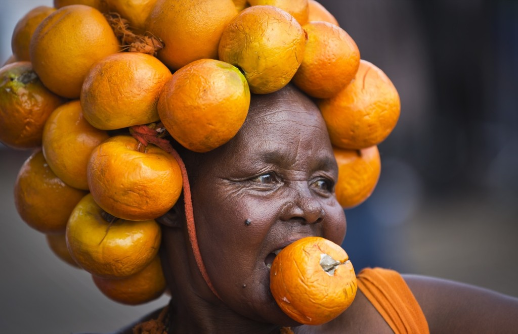 A supporter of Kenyan opposition leader Raila Odinga's Orange Democratic Movement at a rally to welcome Odinga back to the country. AP Photo/Ben Curtis