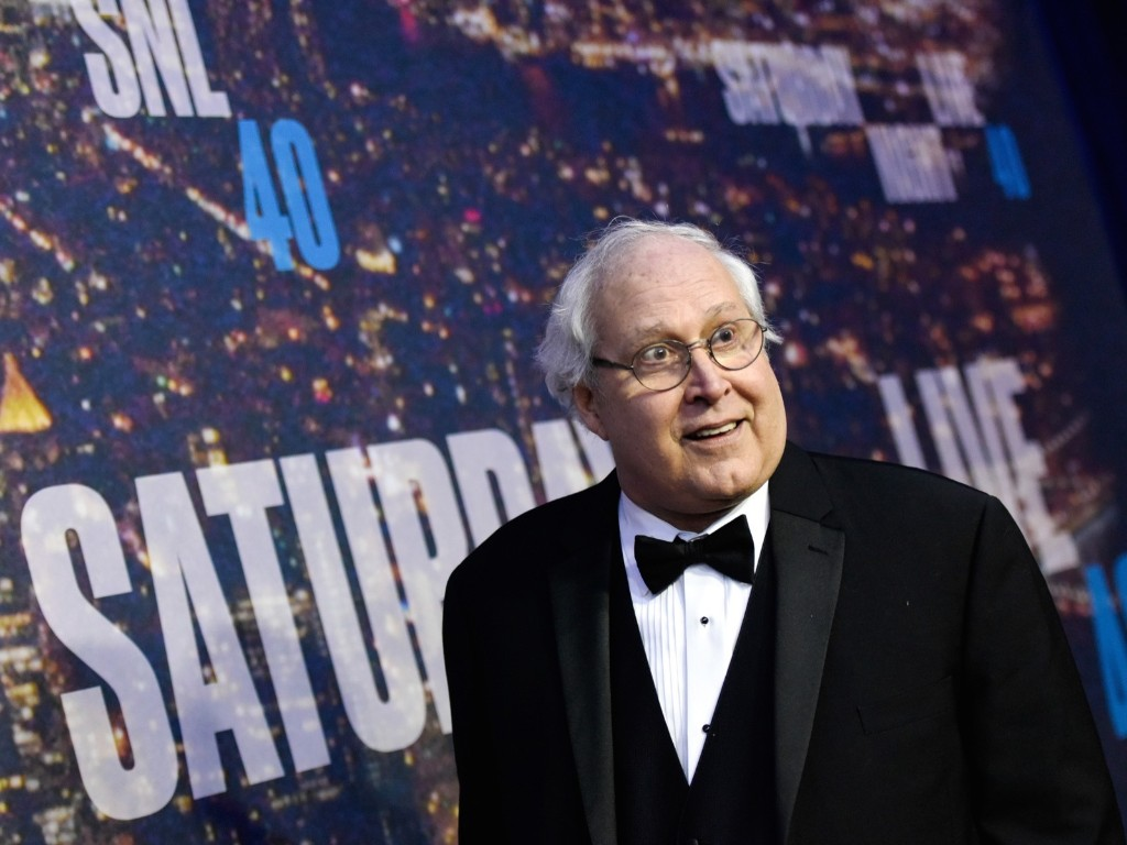 Chevy Chase attends the SNL 40th Anniversary Special, Sunday, in New York. Evan Agostini/Invision/AP