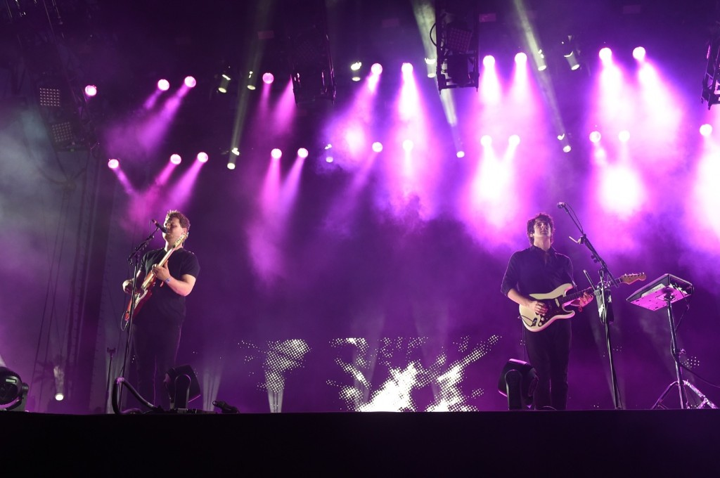 Joe Newman and Cameron Knight of alt-J perform on Saturday. Scott Roth/Invision/AP