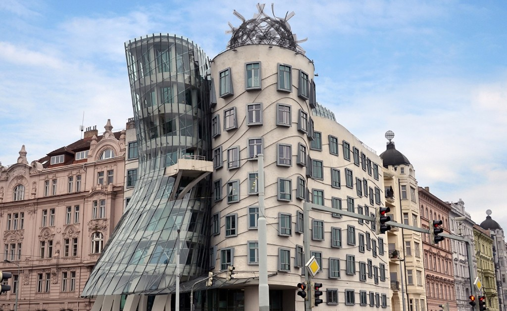 The Dancing House, or Fred and Ginger, was completed in 1996 in Prague, and was designed by architect Vlado Milunic in co-operation with Frank Gehry. Federica Grassi/Getty Images