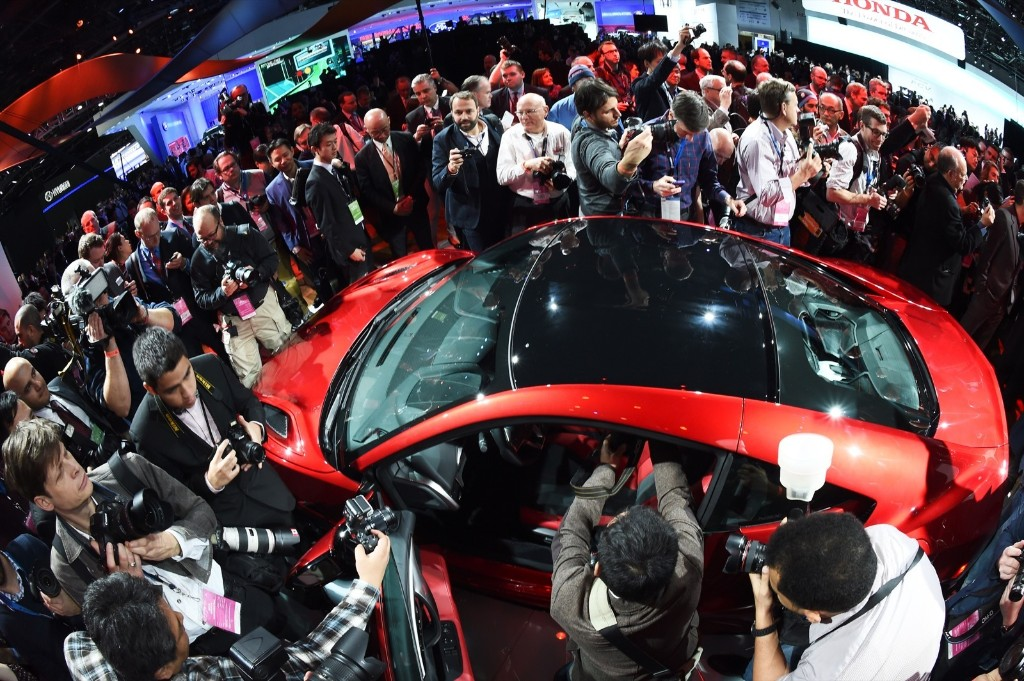 Acura reveals its NSX at the North American International Auto Show in Detroit, Monday. Jewel Samad/AFP/Getty Images