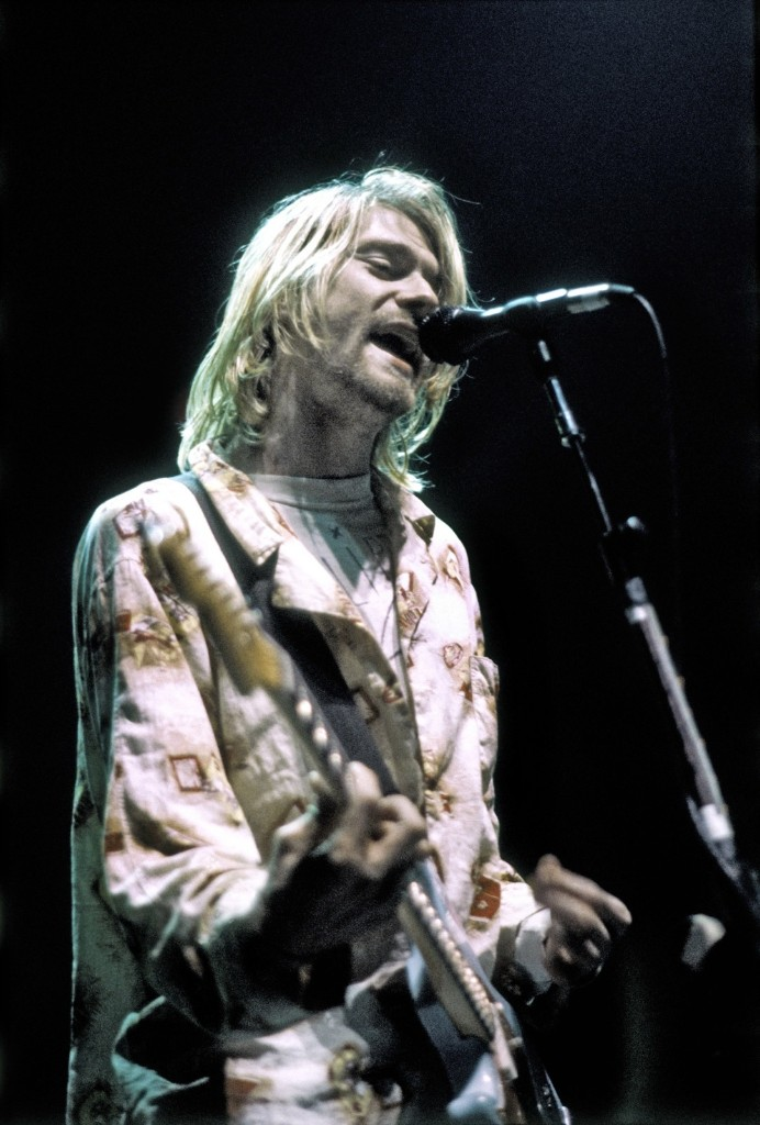 Cobain during his last US concert, at the Seattle Arena on Jan. 7, 1994. Michael Ochs Archives/Getty Images