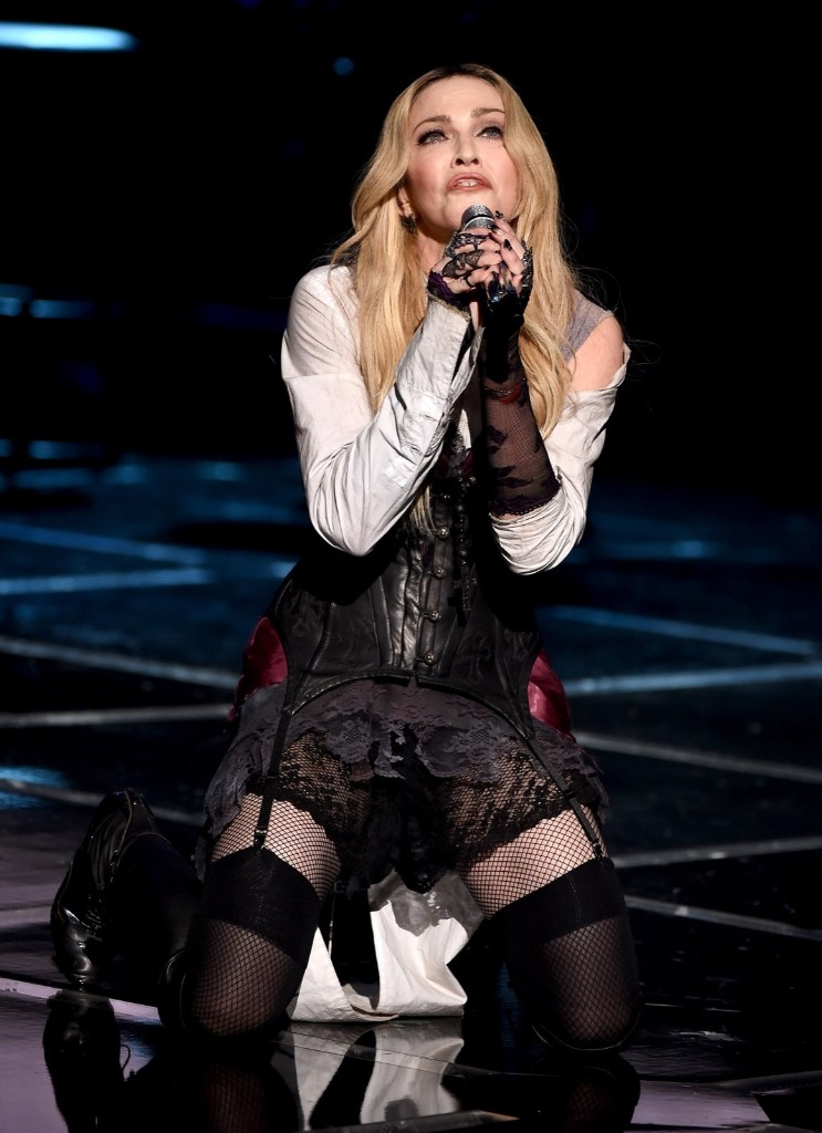 Madonna performs 'Ghost Town' during the 2015 iHeartRadio Music Awards, Sunday, in Los Angeles. Kevin Winter/Getty Images for iHeartMedia