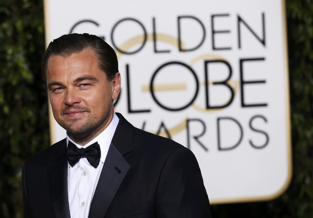 Leonardo DiCaprio arrives at the 73rd Golden Globe Awards. REUTERS/Mario Anzuoni