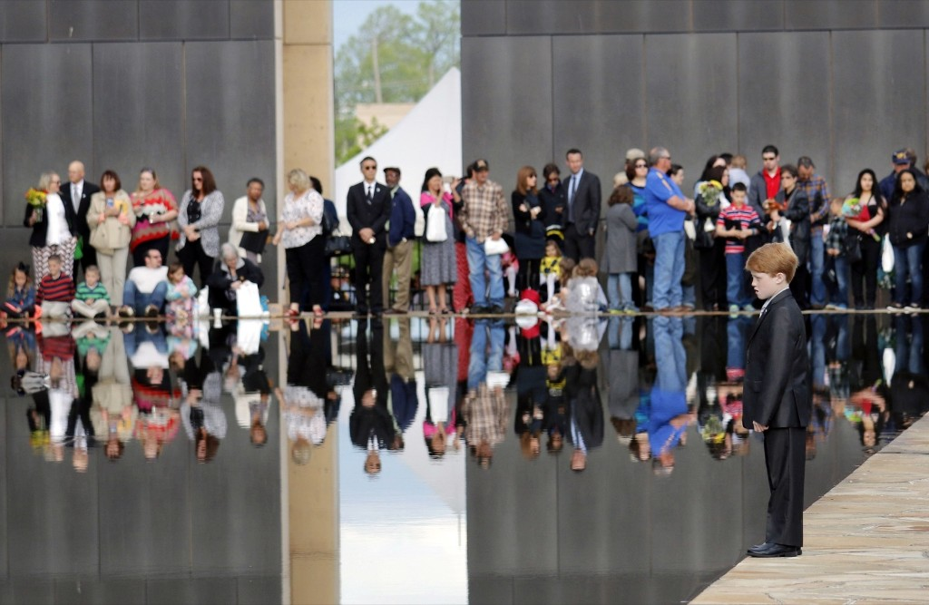A remembrance ceremony at the Oklahoma City National Memorial & Museum to commemorate the 20th anniversary of the terrorist bombing that killed 168 people. Doug Hoke/The Oklahoman/AP/Pool
