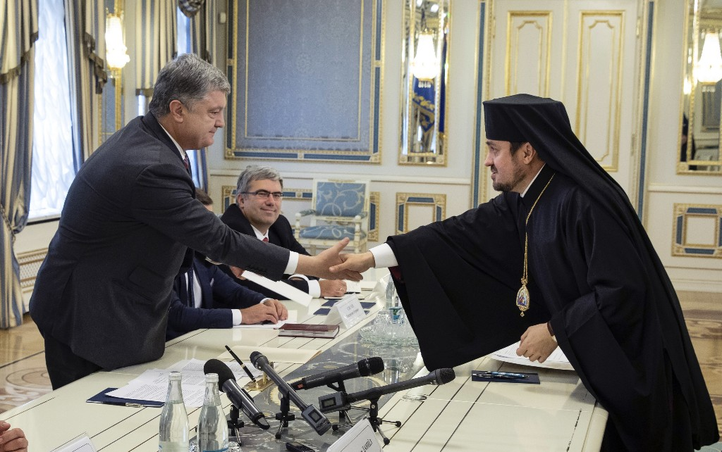 Orthodox envoys meet with Ukraine's president