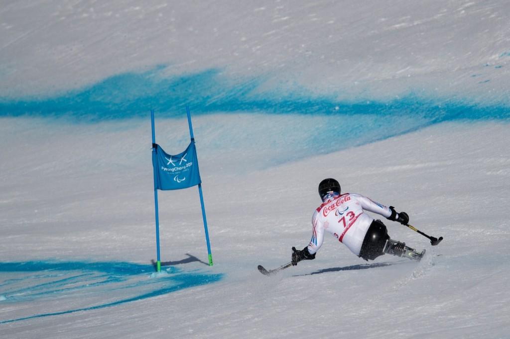 Josh Elliott of the U.S. in the Alpine Skiing Sitting Men's Super-G. Simon Bruty for OIS/IOC