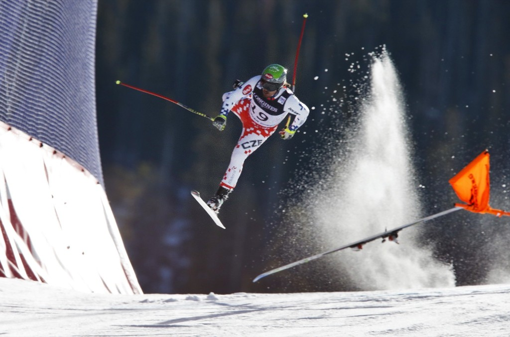 Czech Republic's Ondrej Bank crashes during the downhill portion of the mens Alpine combined at the world championships in Beaver Creek, Colo. AP Photo/Brennan Linsley