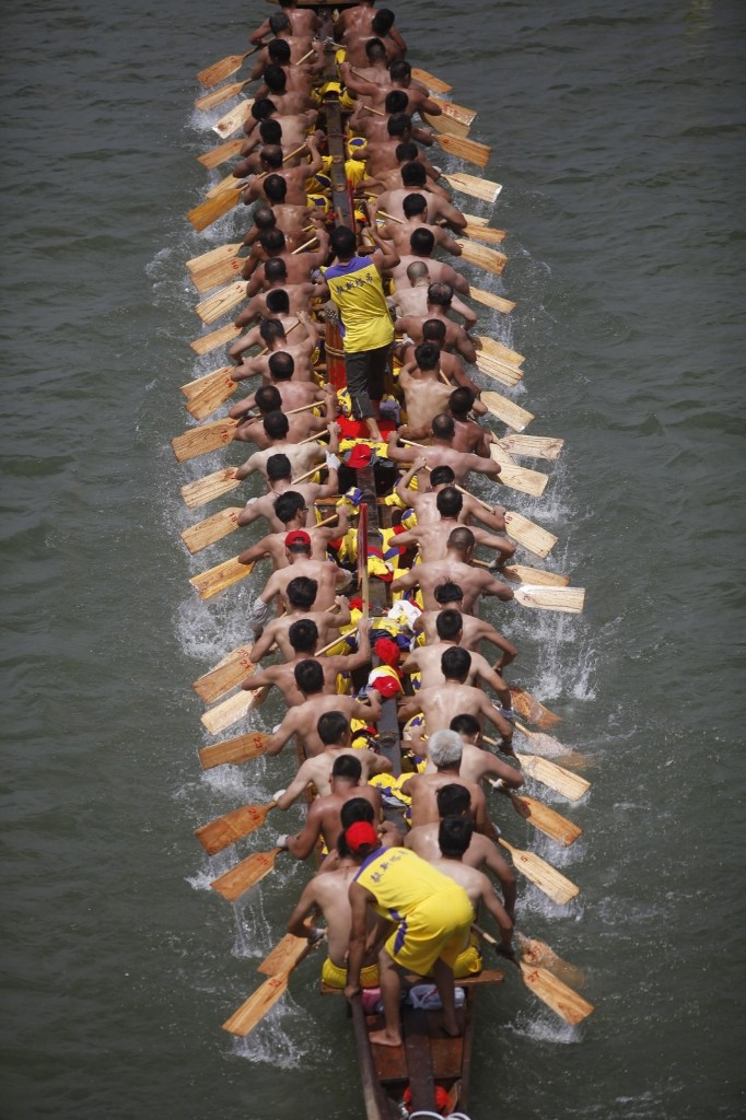 The 2015 Dragon Boat Tournament in Dongguan, Guangdong province of China. ChinaFotoPress via Getty Images