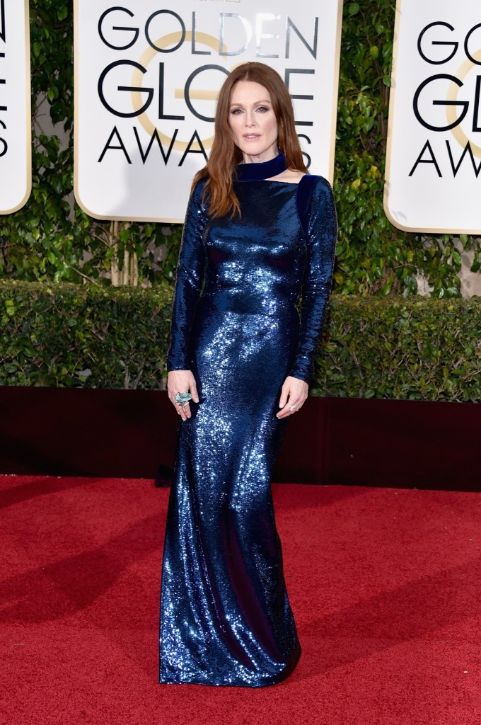 Julianne Moore attends the 73rd Annual Golden Globe Awards. John Shearer/Getty Images