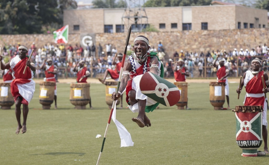 Tribal dancers entertain Burundians in Bujumbura. AP Photo/Berthier Mugiraneza