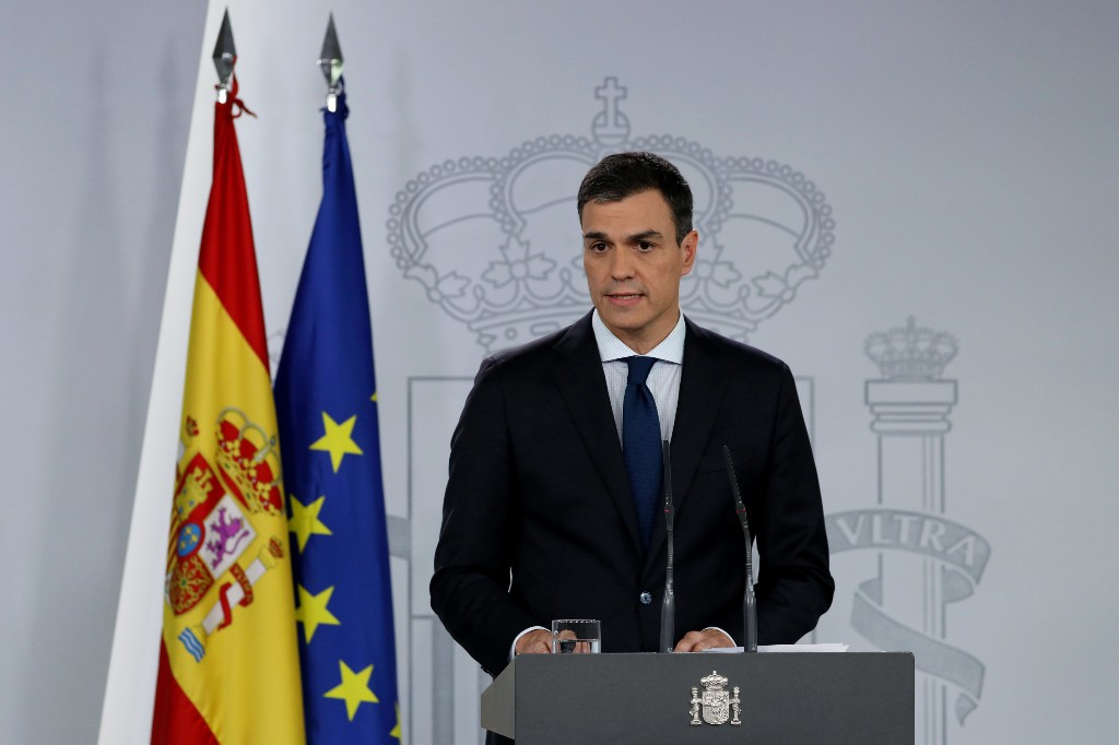 No early elections in Spain, says new PM Sanchez