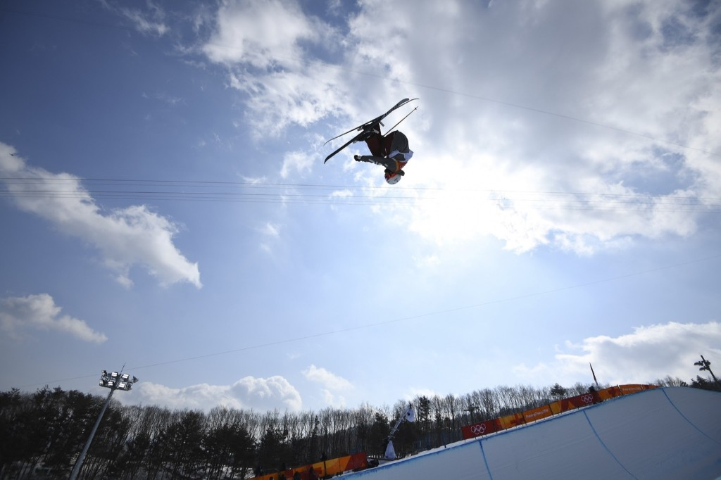 Alex Ferreira of the U.S. taking silver in men's ski halfpipe final. REUTERS/Dylan Martinez