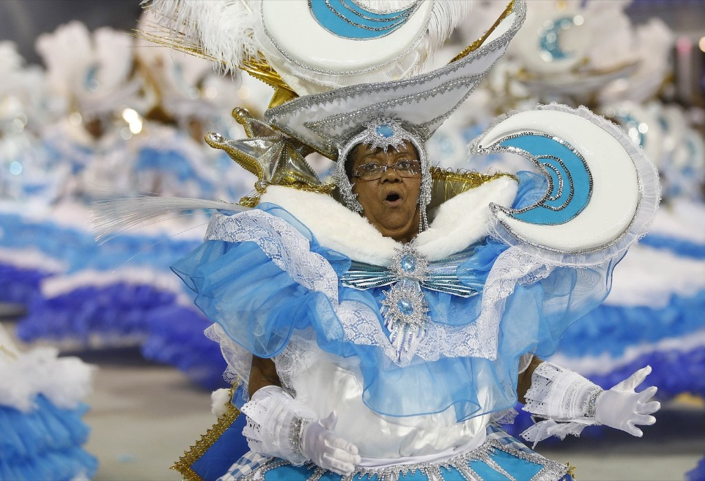 A dancer from the Nene de Vila Matilde samba school performs during a carnival parade in Sao Paulo. AP Photo/Andre Penner