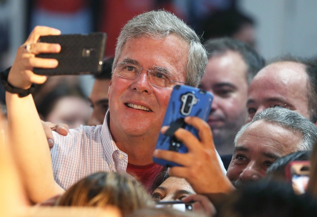 Jeb Bush at one of his Miami field offices. Joe Raedle/Getty Images