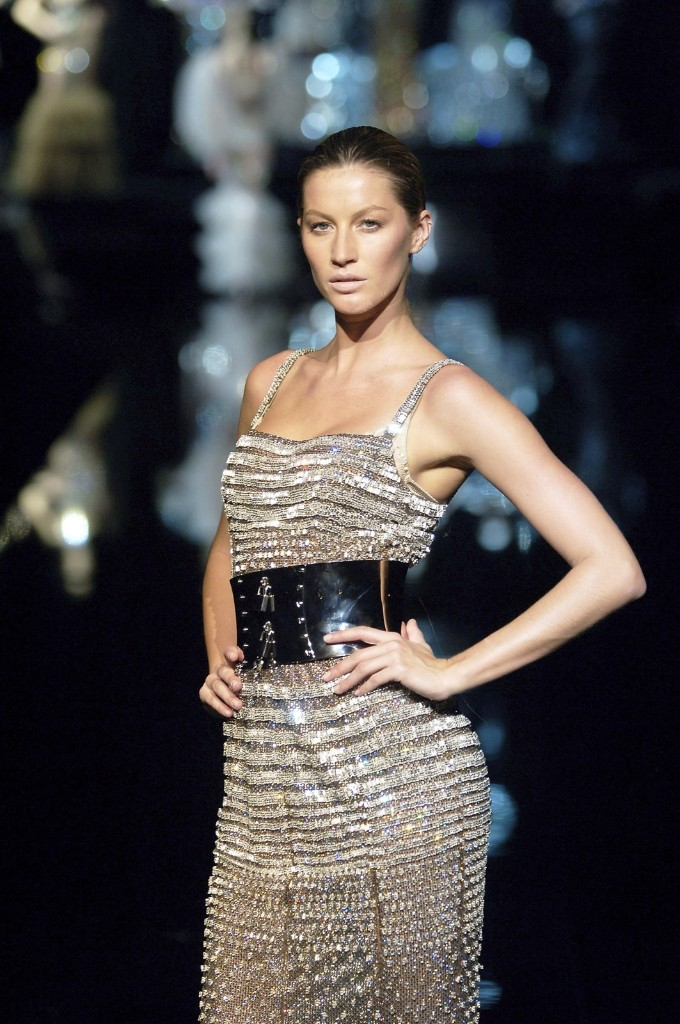Giselle Bundchen during the Dolce & Gabbana fashion show at Milan Fashion Week Autumn/Winter 2007, February 22, 2007. Chris Moore/Catwalking/Getty Images