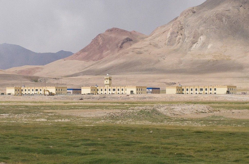 Villagers say dozens, maybe hundreds, of Chinese troops have been posted for three years at an outpost near Tajikistan's border with Afghanistan. (Gerry Shih/The Washington Post)